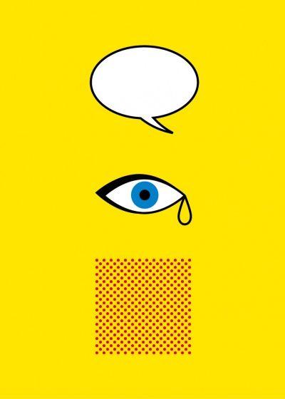 Iconic artists as minimalist posters > Roy Lichtenstein
