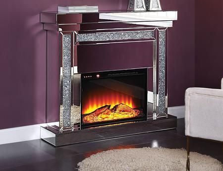 "Noralie Collection 90470 47"" Fireplace with 4mm Beveled"