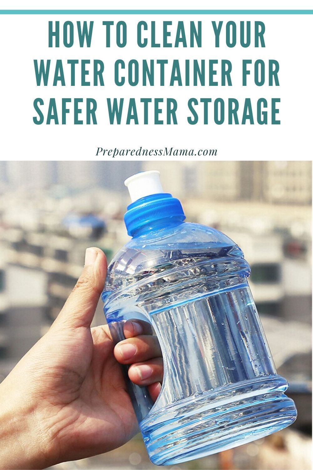 How To Clean Your Water Container For Safer Water Storage