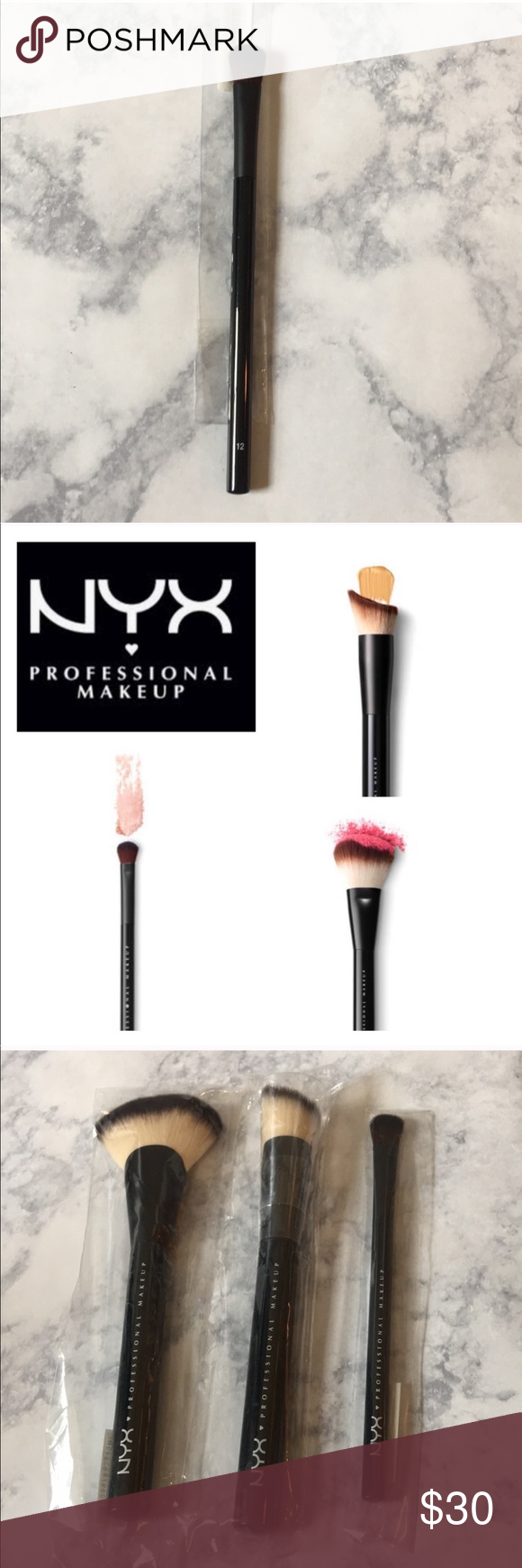 NYX • 3 Brush Bundle NWT Things to sell, Clothes design