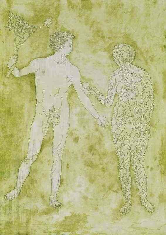 Adam and Eve etching, 2012