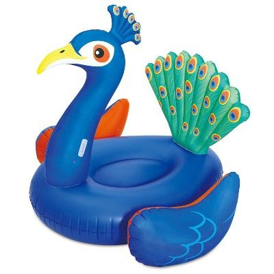 Summer Waves Giant Peacock Ride On Inflatable Swimming