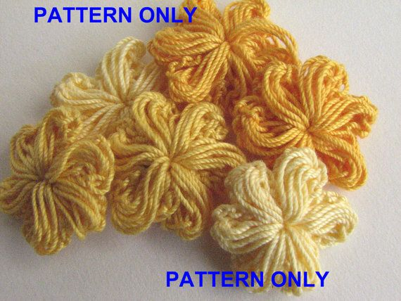 Crochet Flower Patterns Two Patterns For 5 Or 6 Petal Puffy
