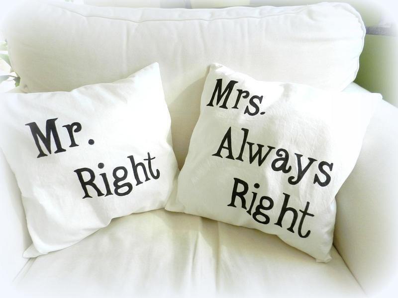 Kuschelkissen Mr Right Amp Mrs Always Right Cushion