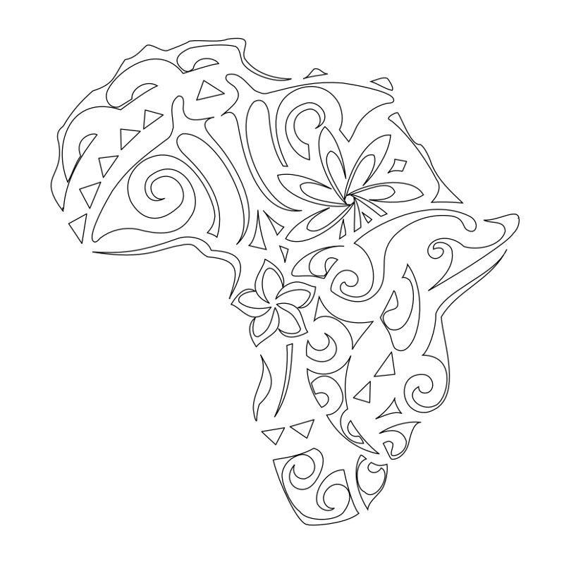 African self stenciljpg african tattoo africa tattoos