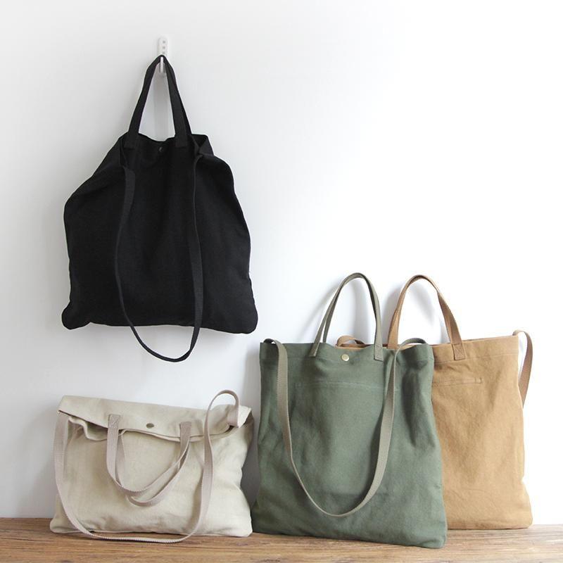 Plain Black Natural Heavy Cotton Canvas Shopper Tote Bag Plain 50*38*19