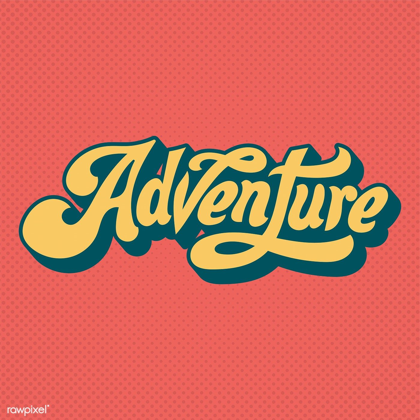Adventure Word Typography Style Illustration Free Image By Rawpixel Com In 2020 Typography Design Inspiration Adventure Logo Typography