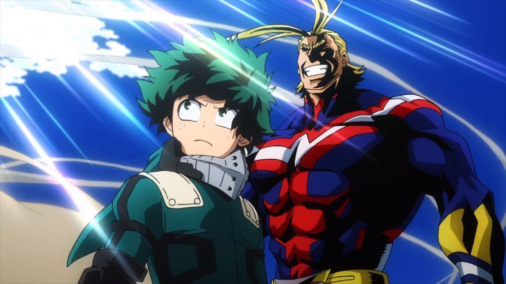 Deku And All Might Screenshot Wallpaper By Thedekumidoriya On Deviantart Hero Otaku Anime Hero Quotes
