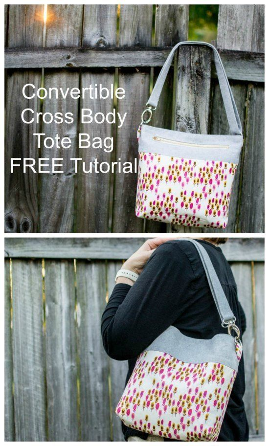 CONVERTIBLE BACKPACK PATTERN ~ Cross-Body-Bag ~ Great Project!
