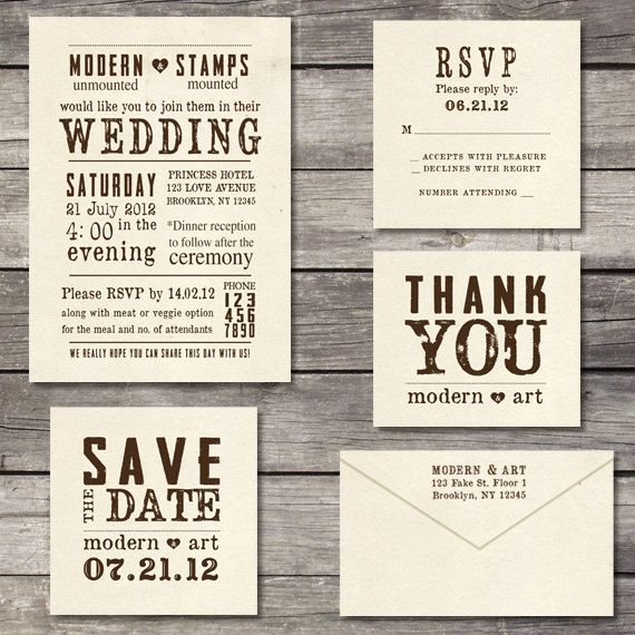 Stamps For Wedding Invitations: Wedding Invitation Stamp Suite Custom Wedding Stamp