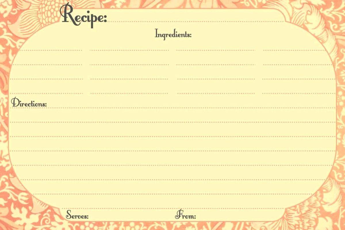 3 X 5 Recipe Card Template Word Cards Design Microsoft 3 5 Pertaining To Free Recipe Card Templates For Micr Recipe Cards Template Card Templates Card Template