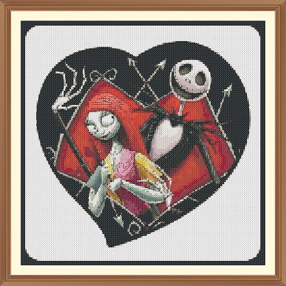 jack and sally nightmare before christmas Cross Stitch by Shawboyz ...
