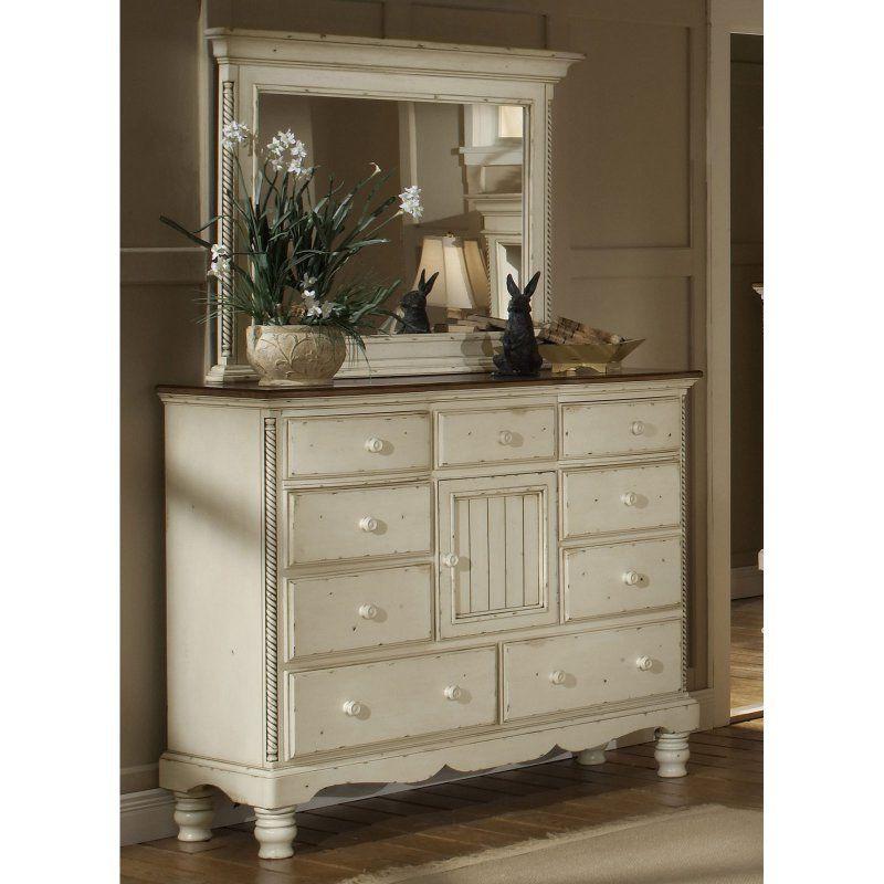 Hillsdale Wilshire 9 Drawer Dresser - Antique White - HL3815