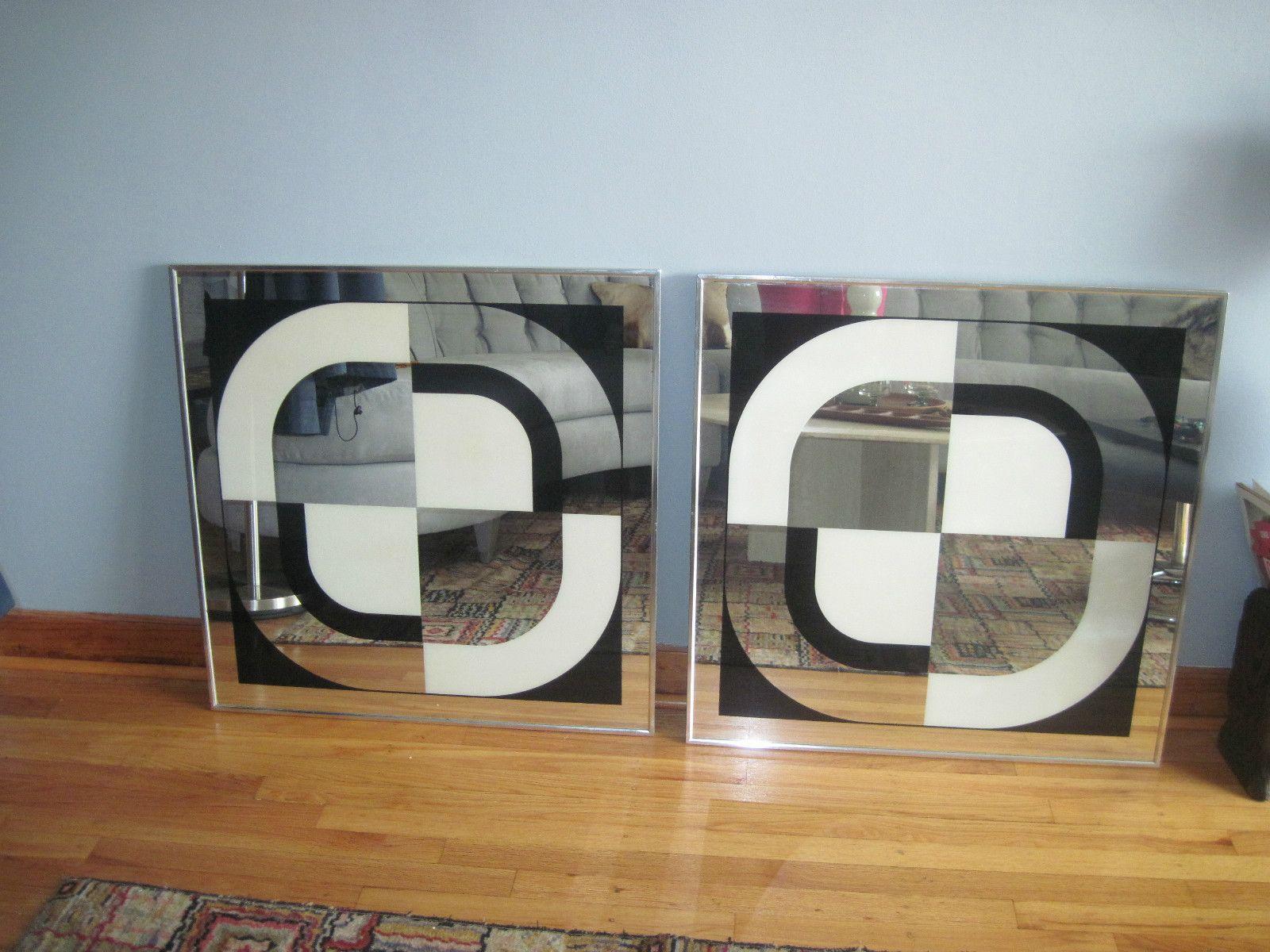 GRAPHIC COOL...; Mid Century Vintage Turner Greg Copeland Abstract ... - GRAPHIC COOL...; Mid Century Vintage Turner Greg Copeland Abstract Wall  Mirrors Black
