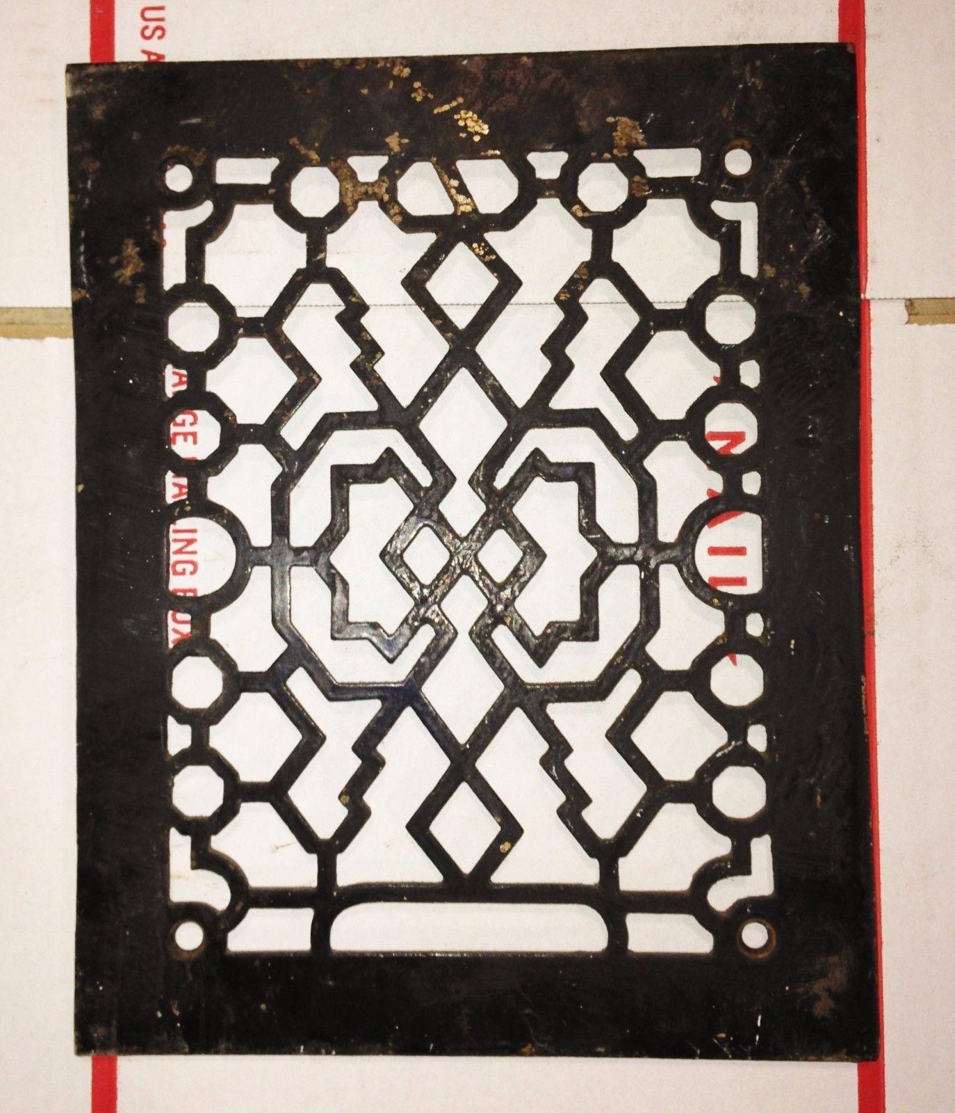 Decorative Metal Grates Antique Cast Iron Heating Grate Register Vent Cover Fancy Pattern