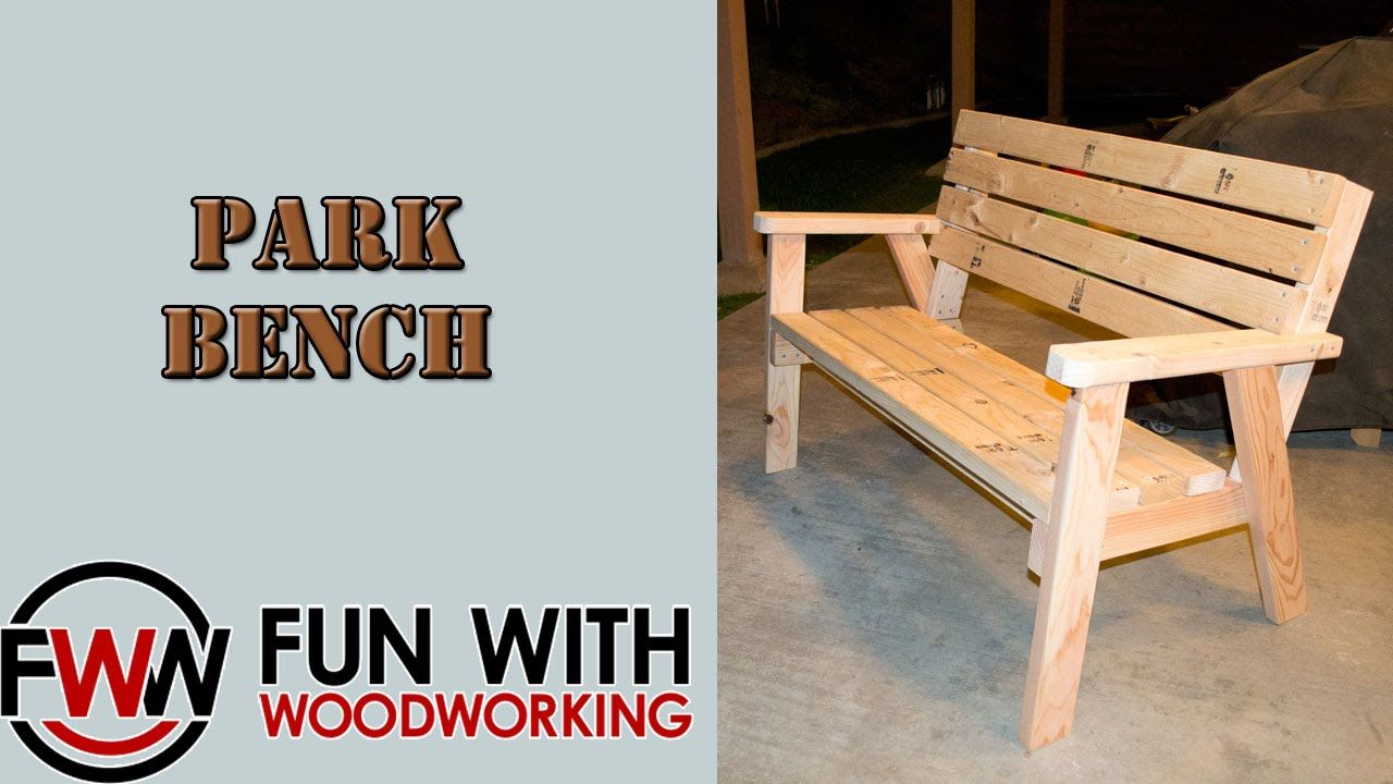 Project - How to make a park bench with a reclined seat out of 8 ...