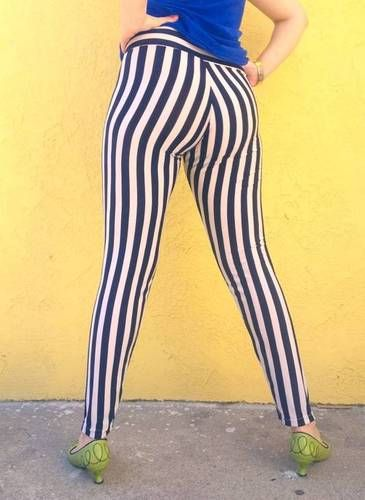 julibooli @ Craftster striped cirque leggings - CLOTHING