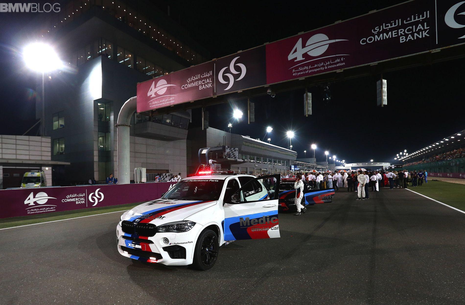 Bmw M4 Motogp Safety Car And Bmw X5 M Medical Debut In Qatar Bmw X5 M Bmw M4 Bmw