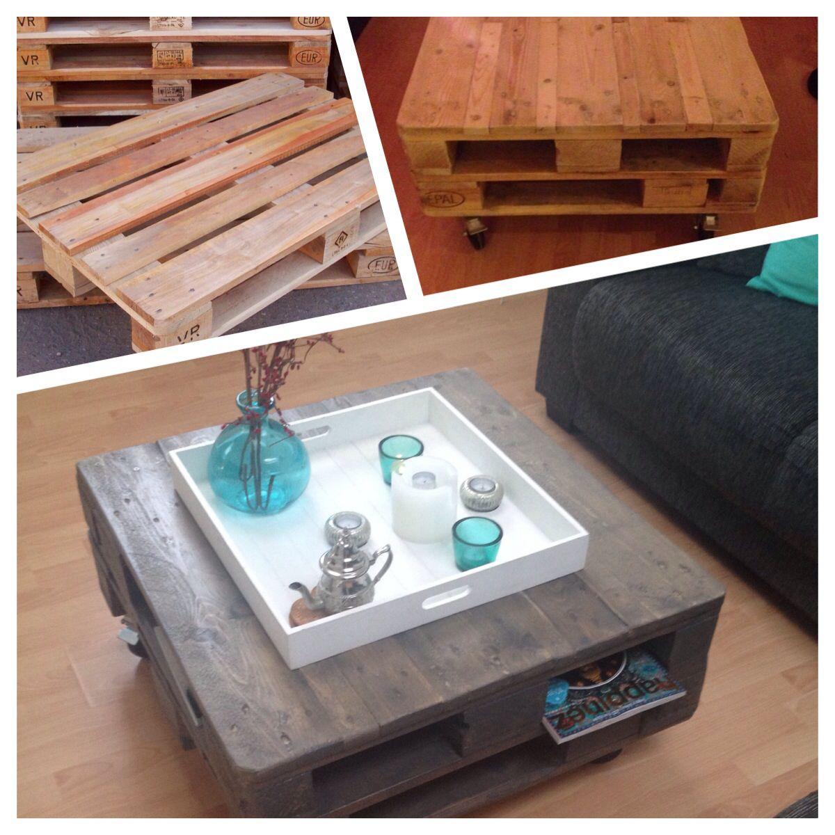 DIY salontafel gemaakt van pallets