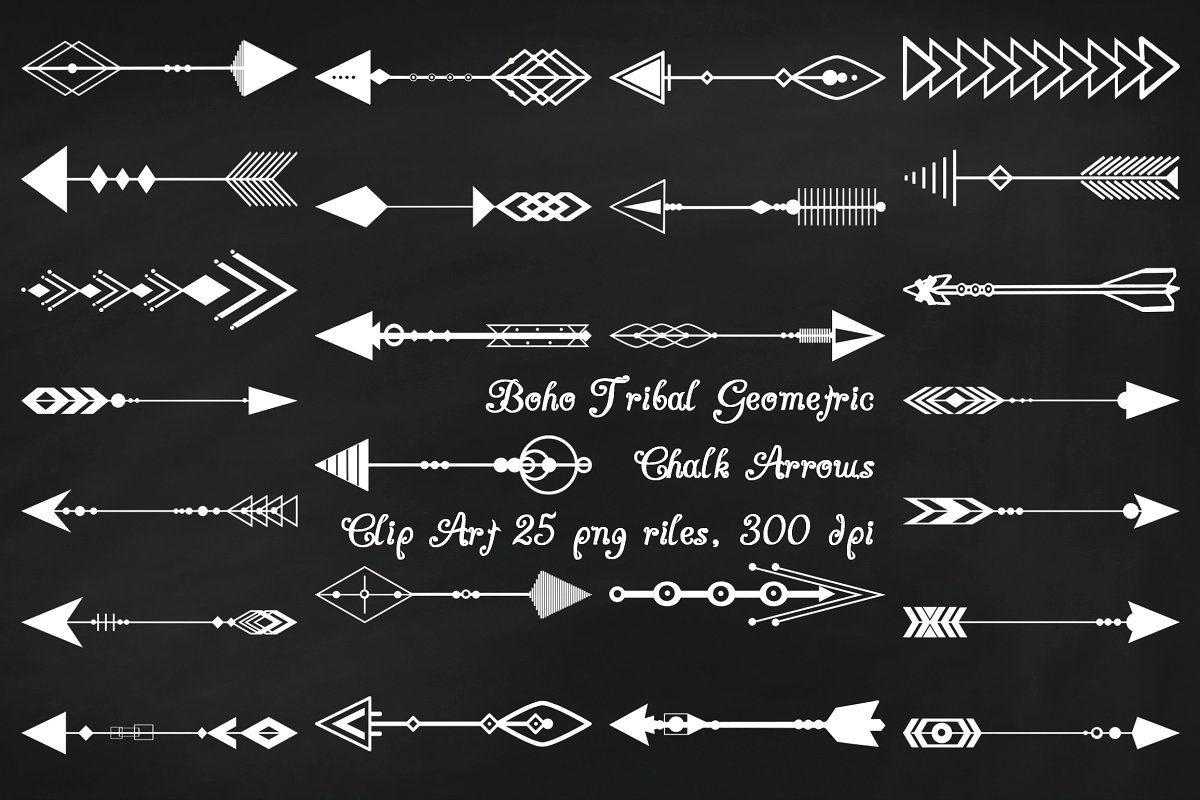 Chalk Boho Tribal Arrow Clip Art Chalkboard Art Quotes Birthday Chalkboard Art Chalkboard Lettering