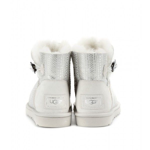 UGG Ankle Boots Grey MINI BAILEY BUTTON BLING