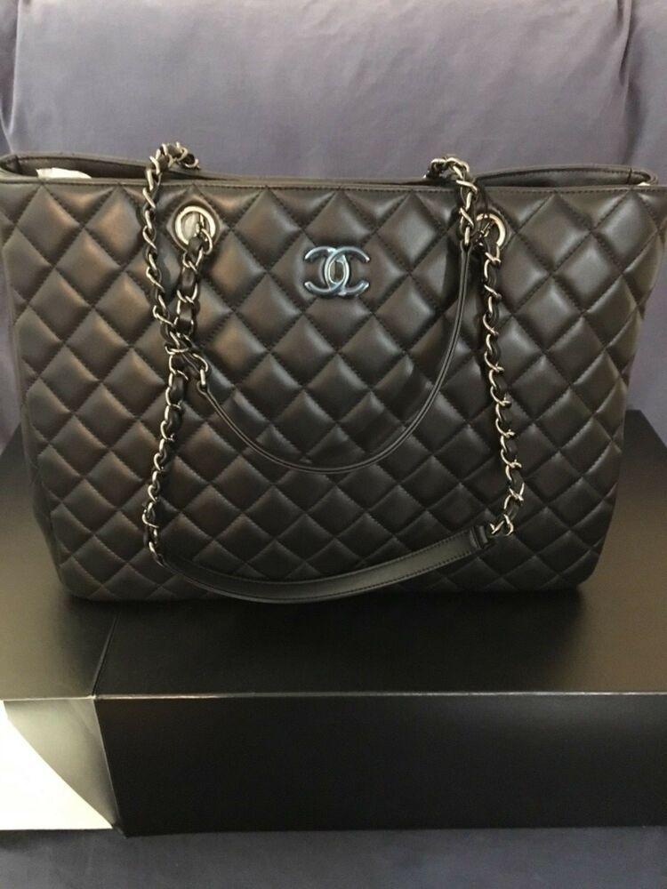 04eab836a066 BRAND NEW CHANEL Classic Large Calf Skin Shopping Tote Bag   Fashion ...