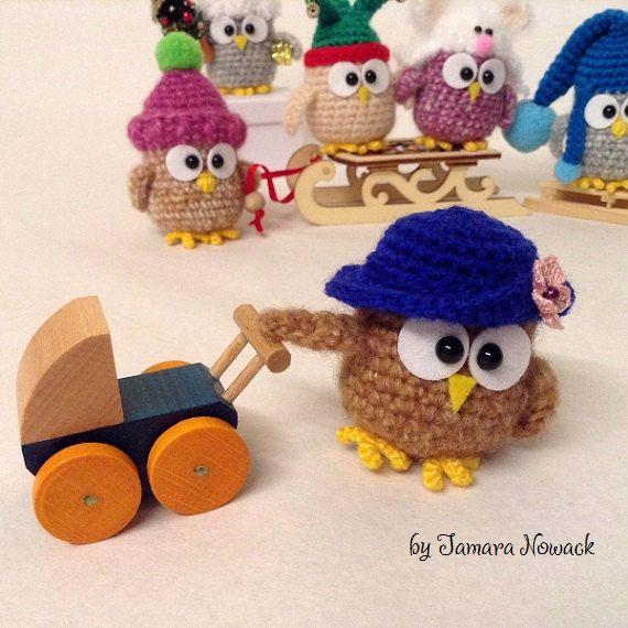 Owls in hats - amigurumi PDF ebook crochet pattern | Häkelanleitung ...