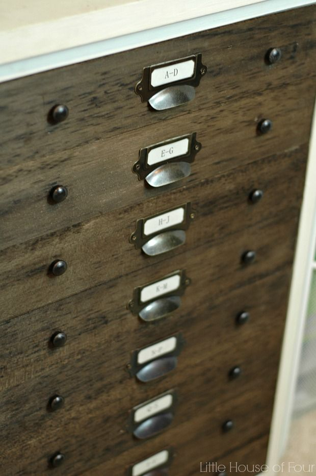 Superbe Filing Cabinet Redo   Use Inexpensive Balsa Wood To Make The Front Look  Like It Has Multiple Drawer Fronts!
