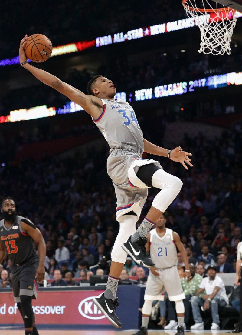 e1ae65a31 Giannis Antetokounmpo Nike Kobe 10 - 2017 NBA All Star Game Sneakers ...