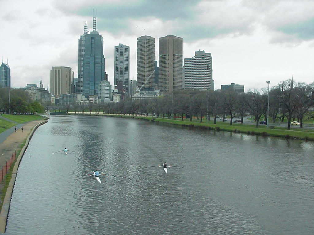 I love looking at the Melbourne Skyline along Yarrow River