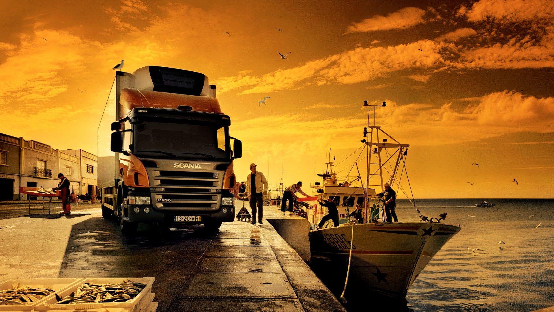 Awesome Orange Scania Truck Wallpaper Pc Scania Lkw Lkw Trucks