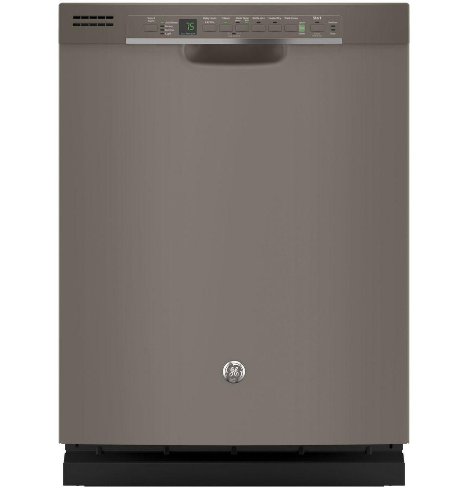 Ge 24in fingerprintresistant slate dishwasher with steam