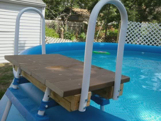 Intex ladder mod pool steps and ladders pinterest for Above ground pool ladder ideas