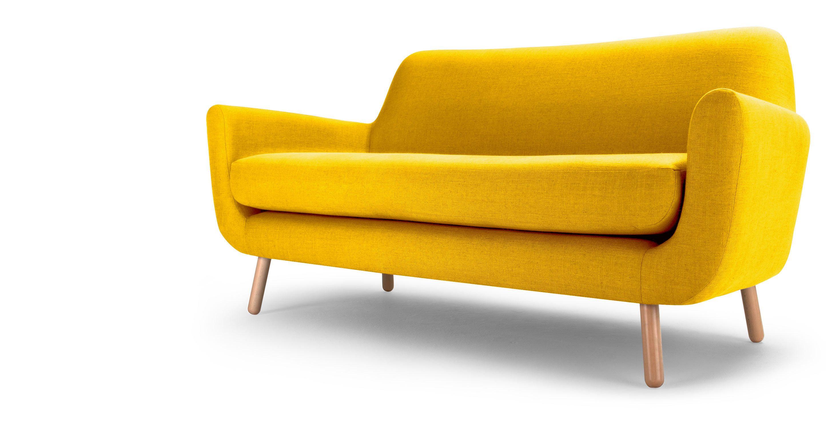 Le Canapé Places Jaune Jonah Une Création Du Jeune Designer - Formation decorateur interieur avec fauteuil a oreille design