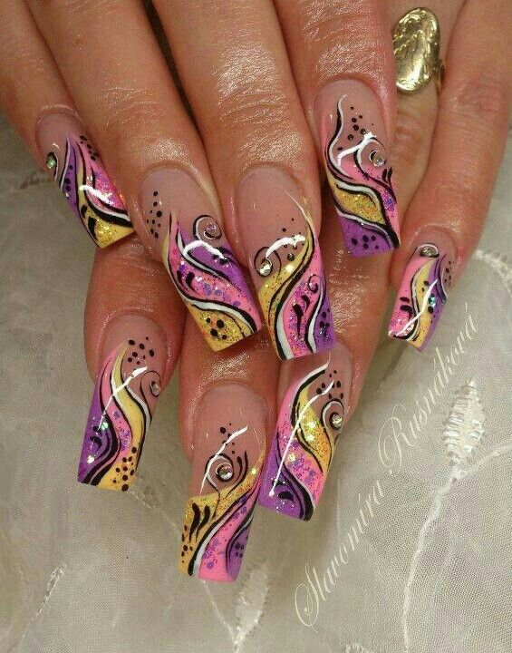 Pretty nail art idea for summer | long nails | Nail Art Designs and ...