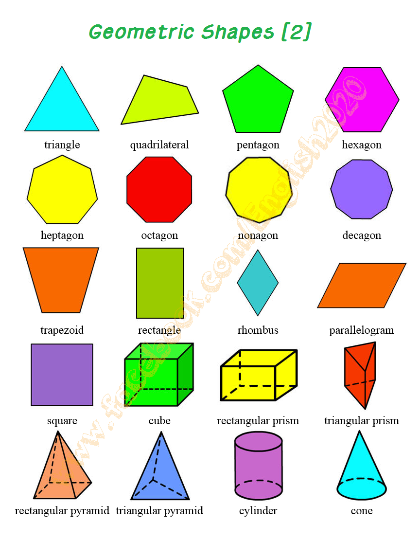 geometric shapes 2 english language esl efl learn english vocabulary and grammar. Black Bedroom Furniture Sets. Home Design Ideas
