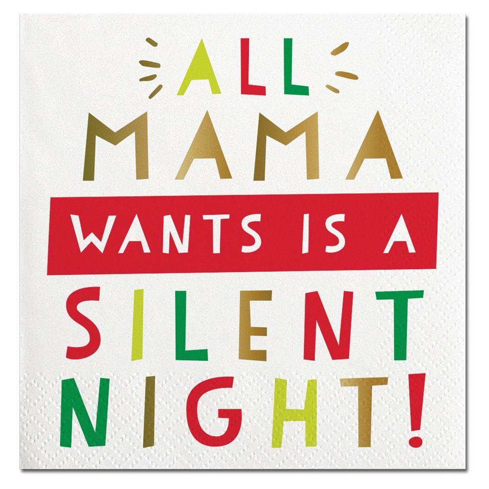 Mama Silent Night Beverage Napkin Christmas Wine Glasses Diy Wine Glasses Painted Christmas Wine Glasses Vinyl