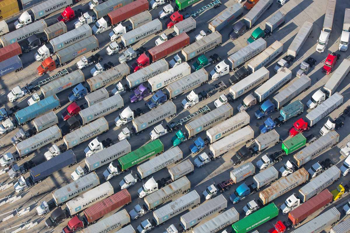 This Is What Gridlock At The Biggest Port In America Looks Like Aerial Photo Aerial Photo