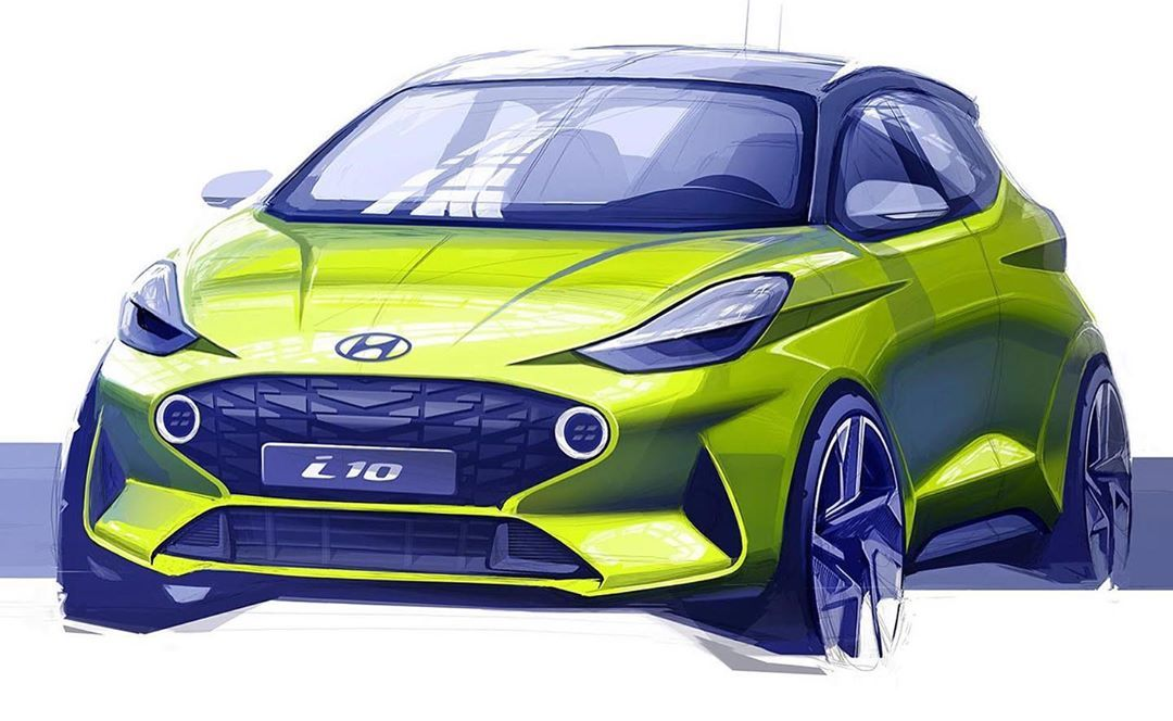 2020 Hyundai I10 Official Sketch Cardesign Car Design