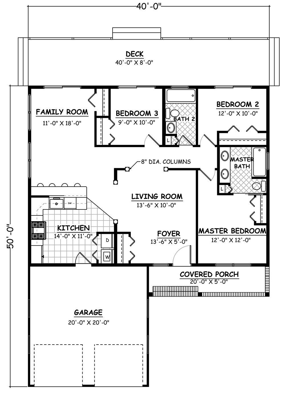 House Plan 52600079 Traditional Plan 1,200 Square Feet