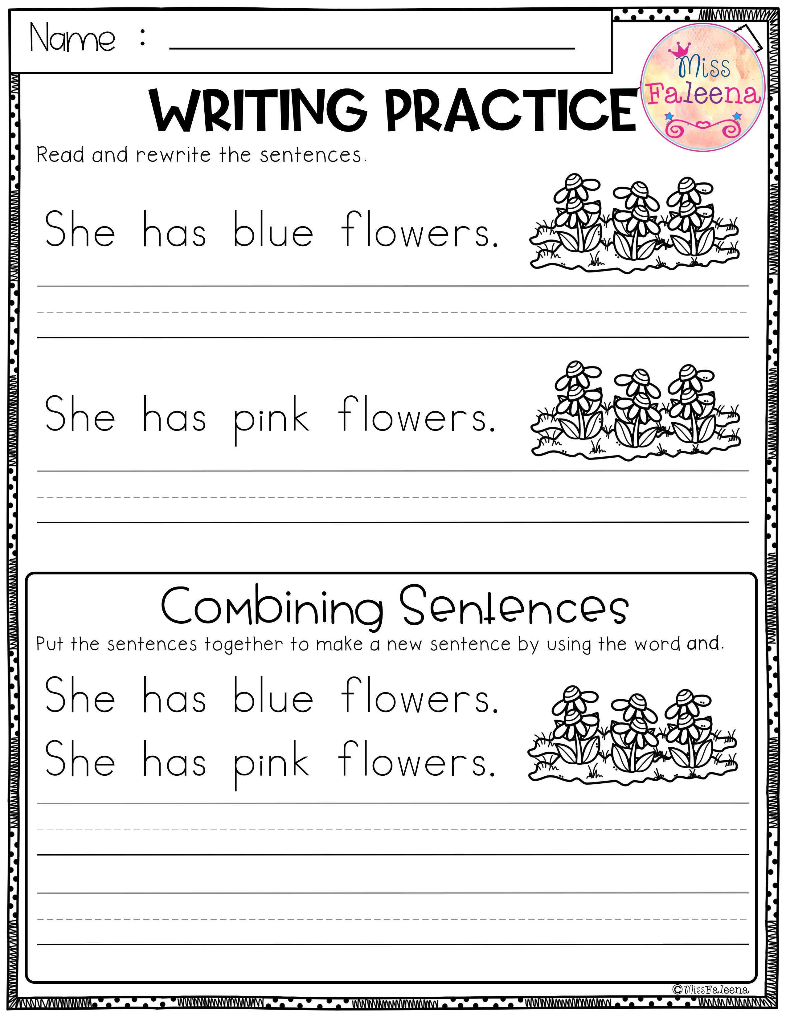 May Writing Practice Combining Sentences With Images