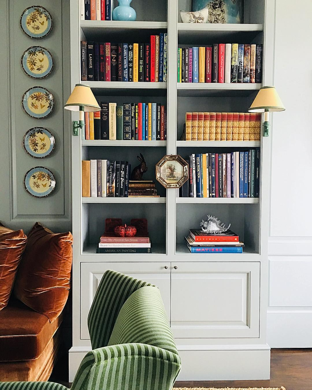 Home Librarydesign Ideas: Blue Library Moment...... #bluelibrary #library