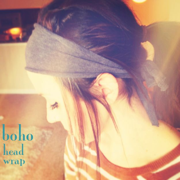 Boho Head Wrap Out of Old T-shirt! Wonderful, Mandy!