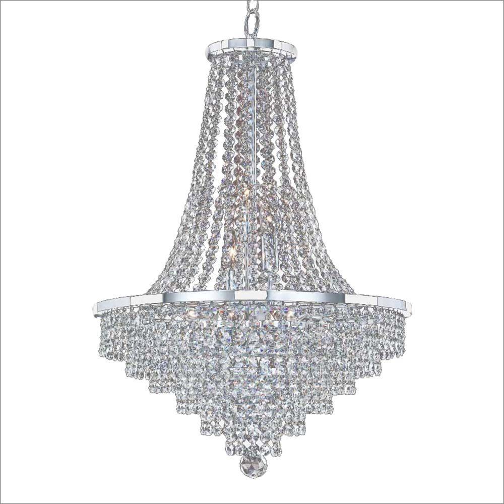 Glow Lighting Vista 9 Light Chrome And Crystal Incandescent Chandelier Chandelier Lighting Light Bulb Bases
