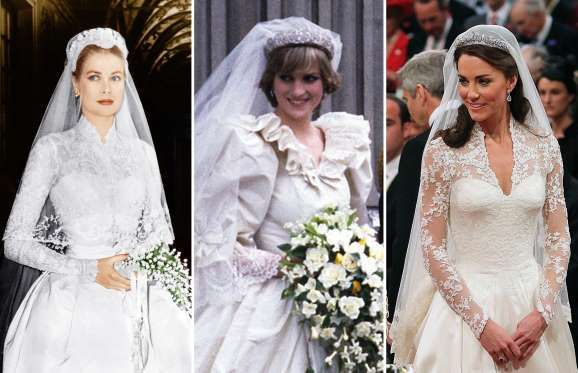 100 Years Of Iconic Royal Wedding Dresses Rex Courtesy Everett Collection Anwar Hussein