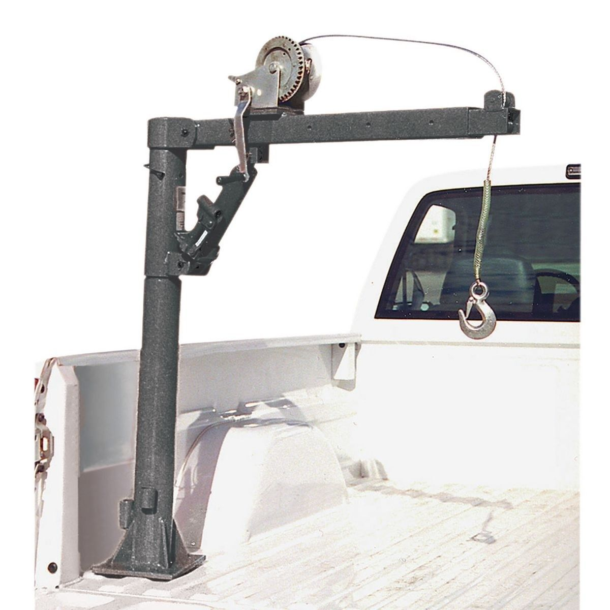 Pickup Truck Bed Crane with Hand Winch 1000 lb. Capacity