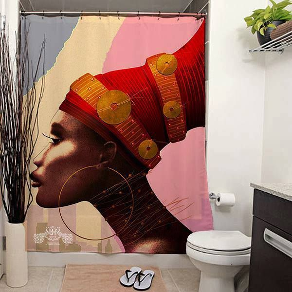 Pin By Chunky By Design On African Lifestyle African Shower Curtain Cool Shower Curtains African Decor