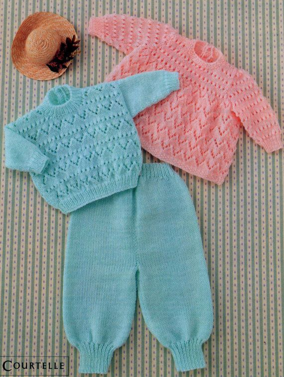 e8352a653 Instant PDF Digital Download Vintage Row by Row Knitting Pattern ...