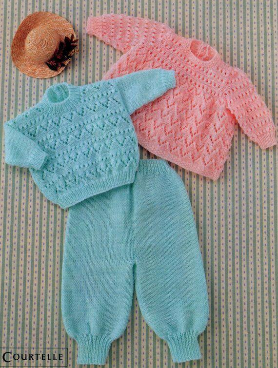 Pdf Immediate Digital Download Vintage Row By Row Knitting Pattern