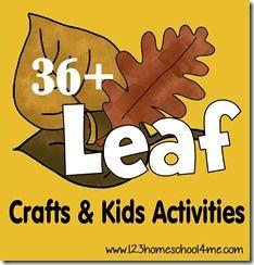 36 Leaf Crafts for Kids